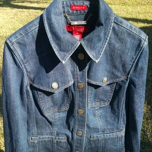 Anne Klein A-Line Denim Jacket